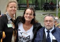 Foto Sandy Krohn, Franziska Müller (ADB), Hannes Kesselberg (Jobbrücke Inklusion)